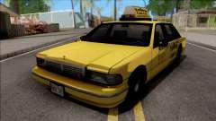 Сhevrolet Caprice 1992 Yellow Cab Taxi Sa Style для GTA San Andreas