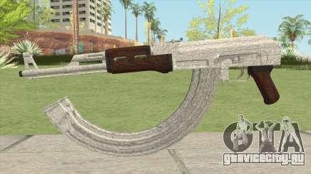 AK-47 Silver для GTA San Andreas