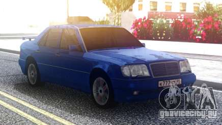 Mercedes-Benz E500 W124 Blue для GTA San Andreas