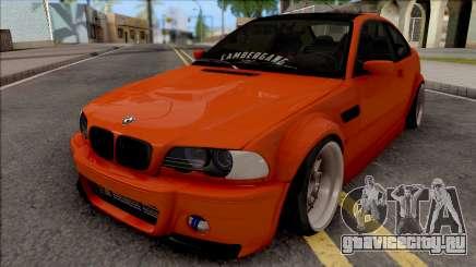BMW 3-er E46 2000 Stance by Hazzard Garage для GTA San Andreas