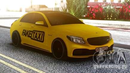 Mercedes-Benz C63 FAKE TAXI для GTA San Andreas