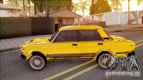 ВАЗ-2107 Gold Chrome Baku для GTA San Andreas