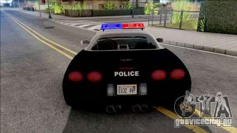 Chevrolet Corvette 1999 Hometown Police для GTA San Andreas