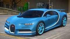 2017 Bugatti Chiron wheel blue для GTA 4