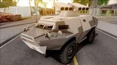 GTA V HVY APC S.A.M. Turret SA Style для GTA San Andreas