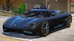 Koenigsegg Agera Police V1 для GTA 4
