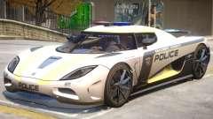Koenigsegg Agera Police PJ2 для GTA 4