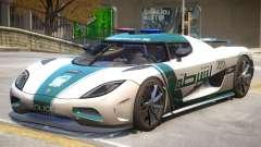 Koenigsegg Agera Police PJ4 для GTA 4