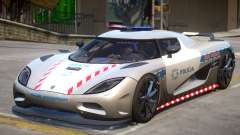 Koenigsegg Agera Highway Police для GTA 4