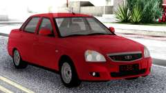 Lada Priora Red Sedan для GTA San Andreas
