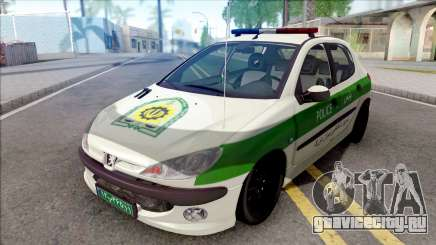 Peugeot 206 Iranian Police для GTA San Andreas