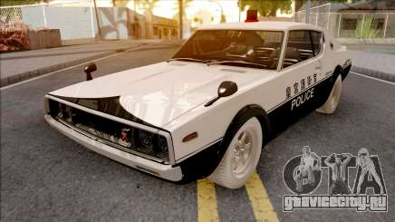 Nissan Skyline GT-R KPGC110 Police Japan для GTA San Andreas