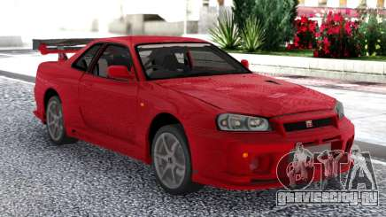 Nissan Skyline GT-R R34 V-Spec II Red Coupe для GTA San Andreas