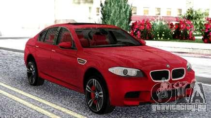 BMW M5 F10 Red Sedan для GTA San Andreas