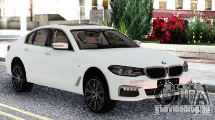 BMW 540i G30 White Sedan для GTA San Andreas