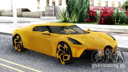 Bugatti La Voiture Noire 2019 Yellow Coupe для GTA San Andreas