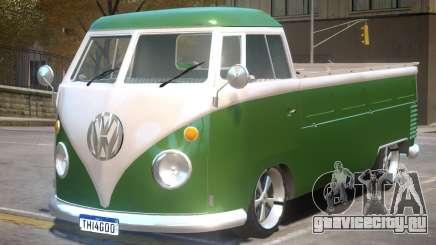 VW Kombi Pick-Up T2 Bus для GTA 4