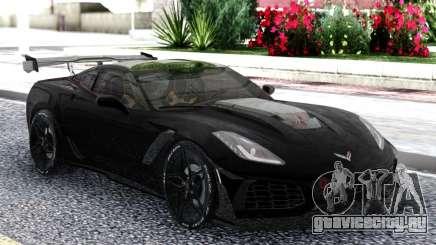 Chevrolet Corvette ZR1 2019 Coupe Black для GTA San Andreas
