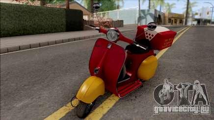 Piaggio Vespa VNB 125 Pizzaboy HQLM для GTA San Andreas