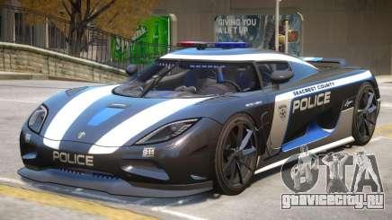 Koenigsegg Agera Police PJ3 для GTA 4