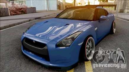 Nissan GT-R Spec V Stance Blue для GTA San Andreas