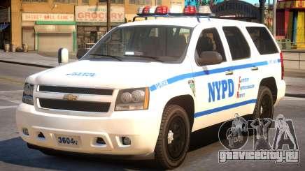 NYPD Chevrolet Tahoe для GTA 4