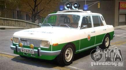 Wartburg 353 Police для GTA 4