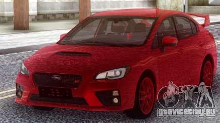 Subaru WRX STI 2017 Red Original для GTA San Andreas