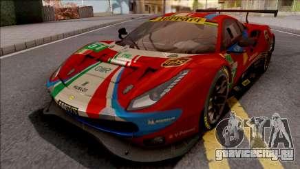 Ferrari 488 GTE Evo 2018 (AF Corse) PJ Preset 2 для GTA San Andreas