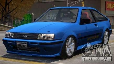 Futo Hatchback V2 для GTA 4