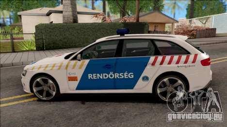 Audi RS4 Avant Magyar Rendorseg Updated Version для GTA San Andreas