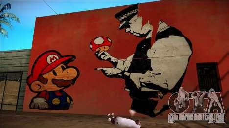Mario Bros Wall HD для GTA San Andreas