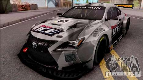 Lexus RC F GT3 2017 для GTA San Andreas