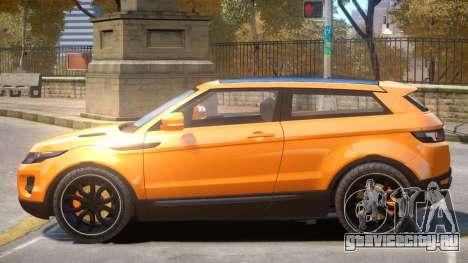 Range Rover Evoque V1 для GTA 4