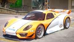 Porsche 918 RSR PJ2 для GTA 4