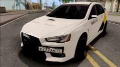 Mitsubishi Lancer Evolution 10 Yandex Taxi v2 для GTA San Andreas