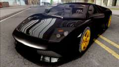 Lamborghini Murcielago LP640 Black для GTA San Andreas