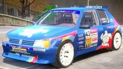 Peugeot 205 V1 PJ для GTA 4