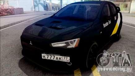 Mitsubishi Lancer Evolution 10 Yandex Taxi v3 для GTA San Andreas