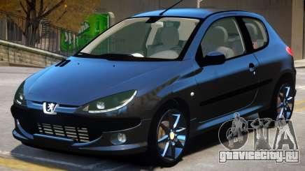 Peugeot 206 V1.1 для GTA 4