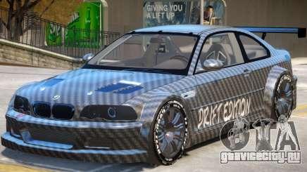 BMW M3 GTR Drift PJ1 для GTA 4