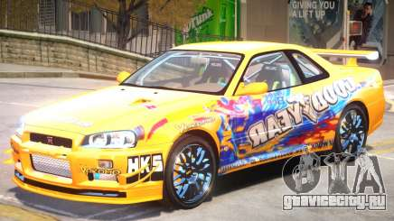 Nissan Skyline R34 PJ для GTA 4