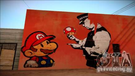 Mario Bros Wall HD для GTA San Andreas