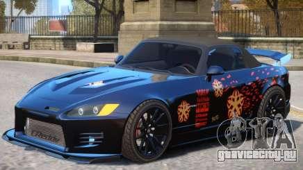 Honda S2000 V1 PJ для GTA 4