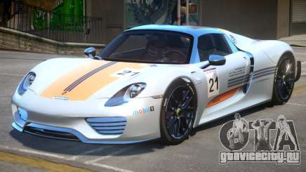 Porsche 918 Weissach для GTA 4