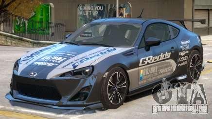 Subaru BRZ V1 PJ2 для GTA 4