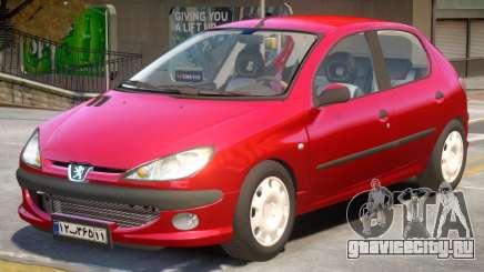 Peugeot 206 V2 для GTA 4