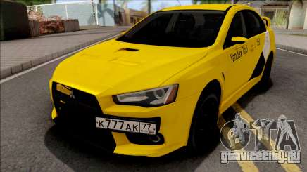 Mitsubishi Lancer Evolution 10 Yandex Taxi для GTA San Andreas