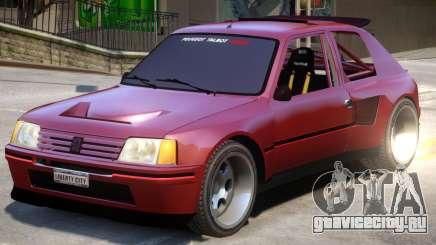 Peugeot 205 V1.1 для GTA 4