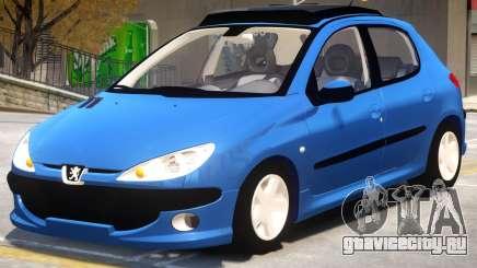 Peugeot 206 V1.2 для GTA 4
